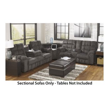 Ashley acieona 58300 89 77 94 sectional sofa with for Sectional sofa with table wedge