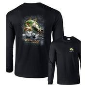 Jumping Striped Bass Fishing Long Sleeve T-Shirt