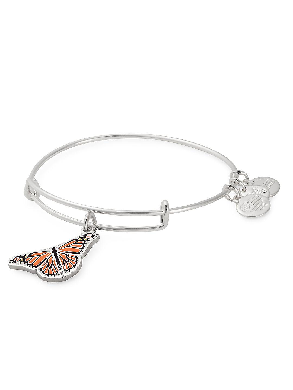 Monarch Butterfly Charm Bangle Bracelet