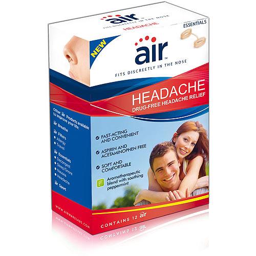 """air"""" Headache - Drug-free Headache Relief Nasal Breathing Aid, 12 ct"""