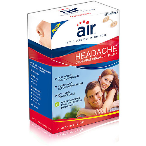 "air"" Headache - Drug-free Headache Relief Nasal Breathing Aid, 12 ct"