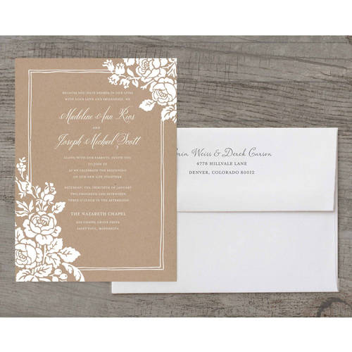 Classic Floral Deluxe Wedding Invitation