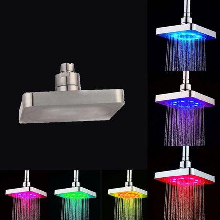 RGB 7 Colorful LED Light Water Bath Bathroom Filtration Shower