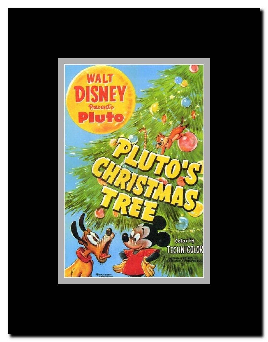 Plutos Christmas Tree.Pluto S Christmas Tree Framed Movie Poster