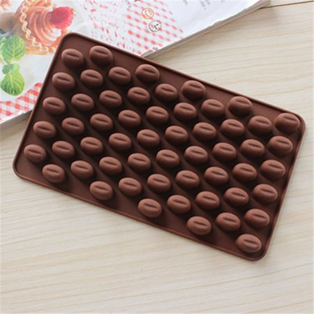 Smilehome Coffee Bean Chocolate Candy Silicone Bakeware Mould Cake Wax (Best Chocolate For Melting Into Molds)