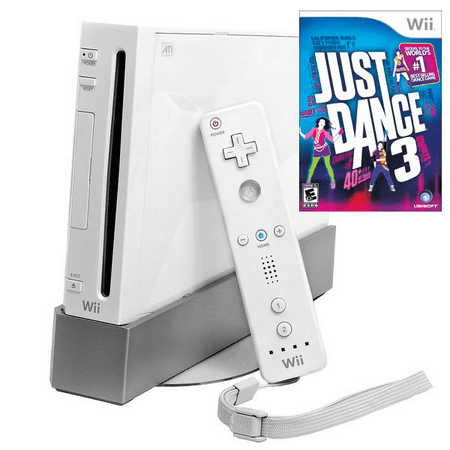 Nintendo Wii Game Console with Just Dance 3 Bundle (refurbished)