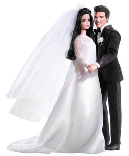 Mattel Elvis And Priscilla Barbie Doll Giftset