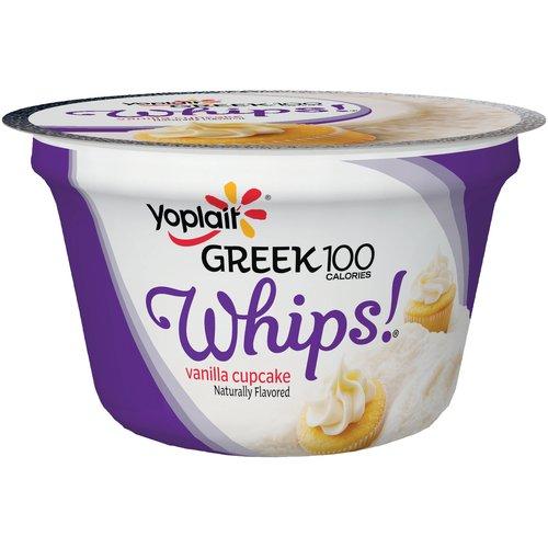 Yoplait? Greek 100 Calories Whips!? Vanilla Cupcake Fat Free Yogurt Mousse 4 oz. Cup