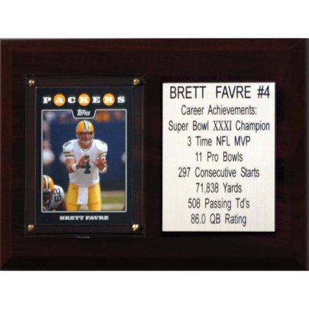 C&I Collectables NFL 6x8 Brett Favre Green Bay Packers Career Stat - Favre Green Bay Packers Framed