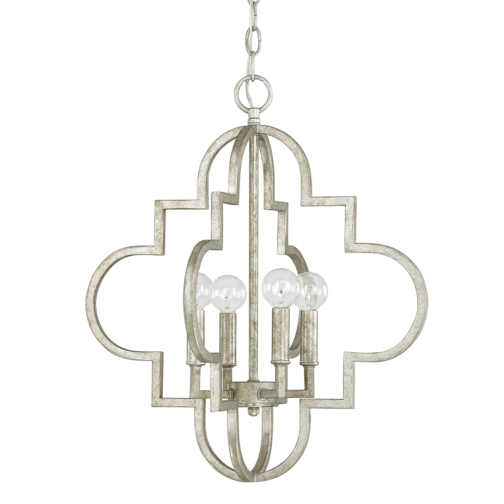 Capital Lighting Ellis Antique Silver 4 Light Pendant