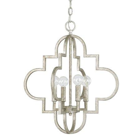 Capital Lighting Ellis Antique Silver 4 Light Pendant
