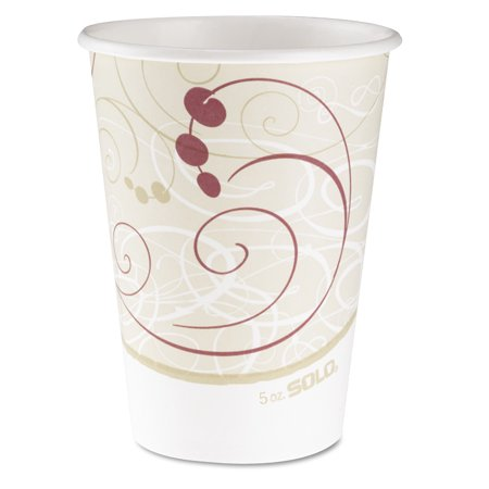 SOLO Cup Company Hot Cups, Symphony Design, 12oz, Beige, 1000/Carton