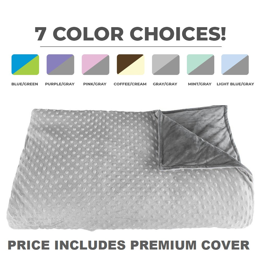 Platinum Health CALMFORTER(tm) Premium Weighted Blanket 12 lbs for Adults & Children Pink, Blue, Purple, Brown, Gray...