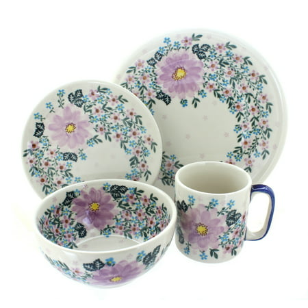 Wholesale Garden Pottery (Polish Pottery Lilac Garden 16 Piece Dinner Set)