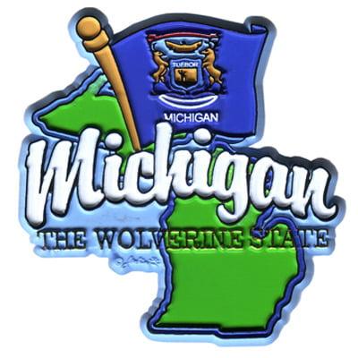 DDI Michigan 2 D Magnet W/map & Flag (pack Of 72)