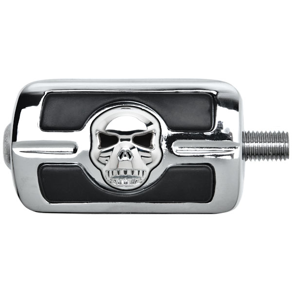 NEW Chrome Skull Skeleton Shift Peg Cover for Harley Davidson Motorcycle Cruiser - image 2 of 3