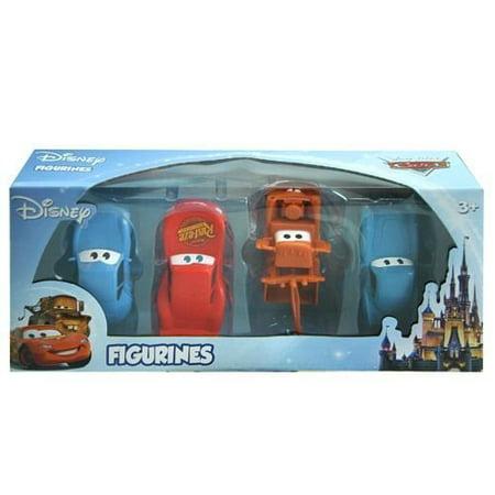 Disney Pixar Cars 4 pc Figurine Playset Mcqueen, Mater, Sally, McMissle Figurine Figure Set - Disney Pixar Cars Hank Halloween Murphy