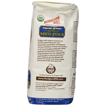 Hodgson Mill Organic Naturally White Flour Unbleached All Purpose 2 Pounds Pack Of 6