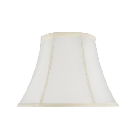 Aspen Creative 70216-21 One-Light Plug-In Swag Pendant Light Conversion Kit with Transitional Bell Fabric Lamp Shade, Off White, 13