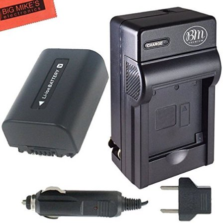 BM Premium NP-FV50 Battery & Charger for Sony Handycam Camcorder (Video Camera Handycam Sony)