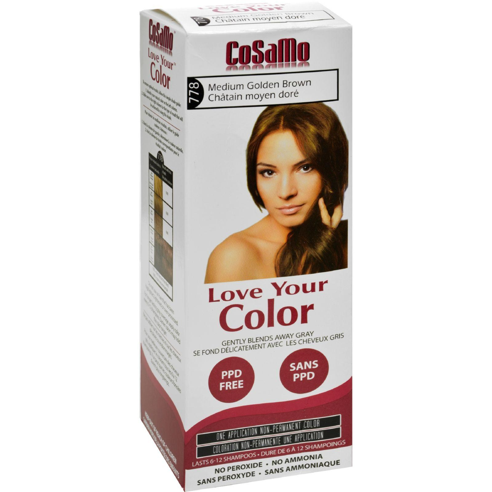 Love Your Color Hair Color Cosamo Non Permanent Med Gold Brown