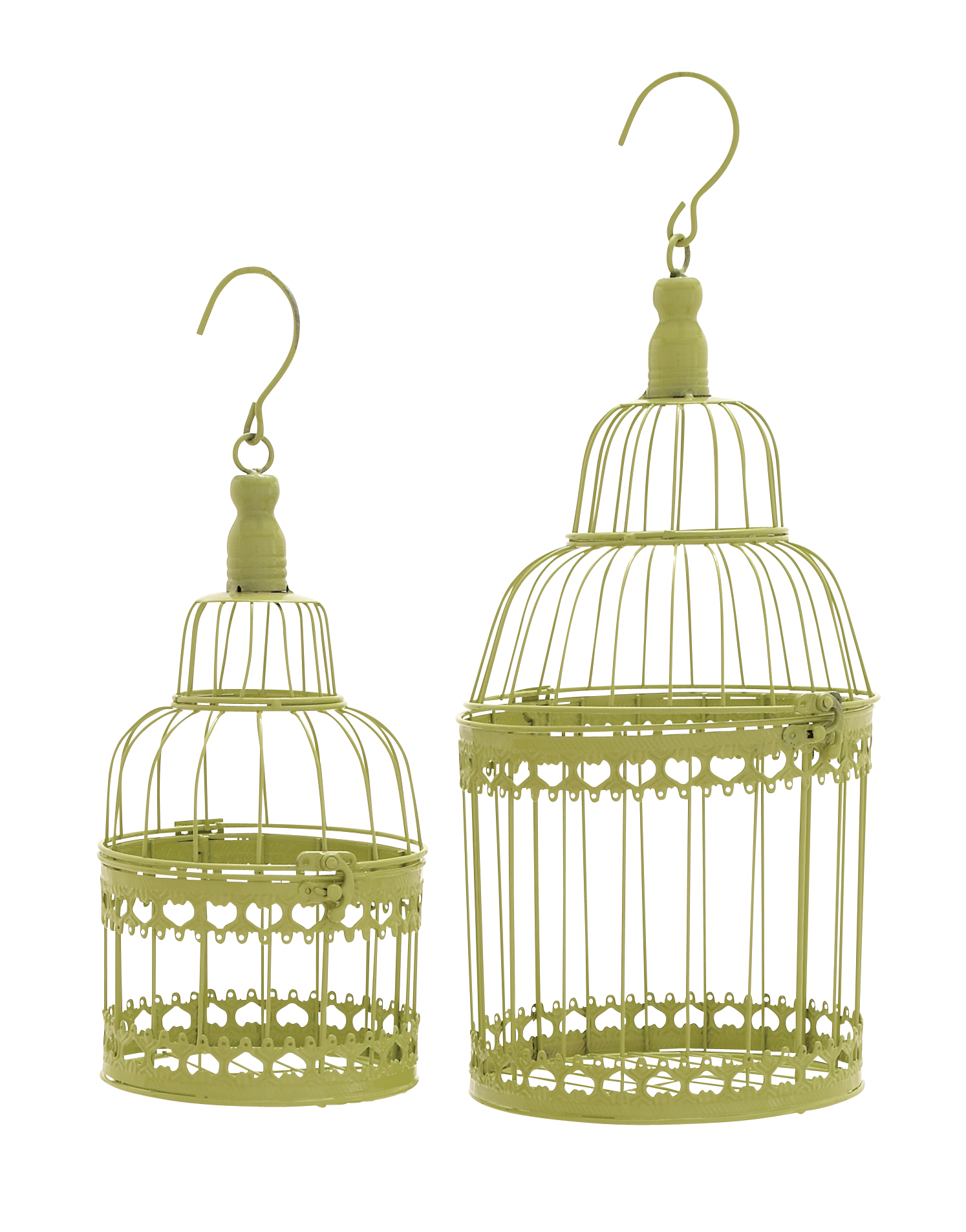 Bird Cage With Great Durability And Long Lasting Set Of 2 by Benzara