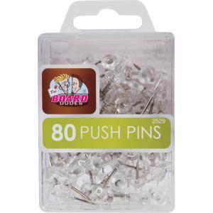 Mega Brands The Board Dudes 80 Clear Push Pins