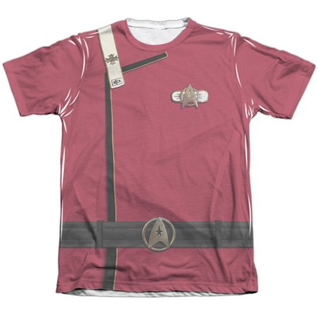 Star Trek Admiral Kirk Uniform Mens Sublimation Shirt (Star Trek Voyager Uniform Colors)