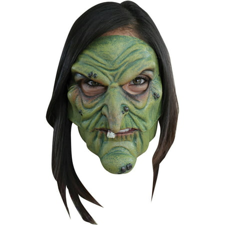 Witch Mask Adult Halloween Accessory (Witches Broomstick Halloween)