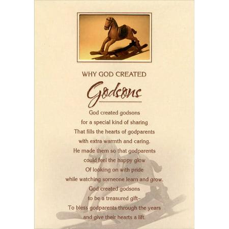 Designer Greetings Rocking Horse In Die Cut Window Godson Birthday Card