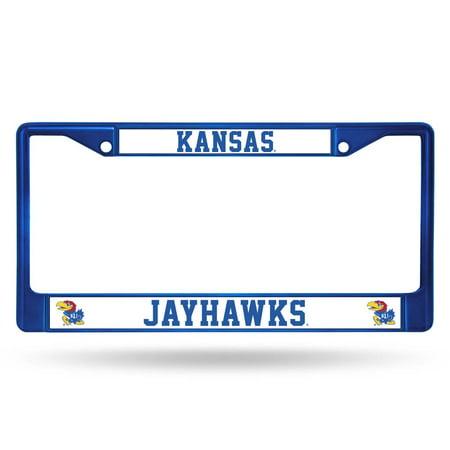 Kansas Jayhawks Metal License Plate Frame - Blue