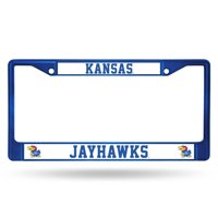 Kansas Jayhawks Metal License Plate Frame - Blue