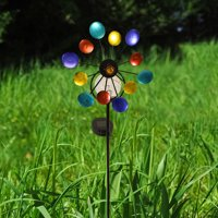 Touch Of ECO Solar Spinning LED Pinwheel (Multi Color or Green)