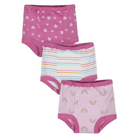 Gerber Organic Cotton Reusable Training Pants, 3pk (Toddler Girls)