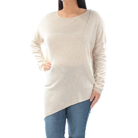 INC Womens Beige Long Sleeve Jewel Neck Top  Size: L