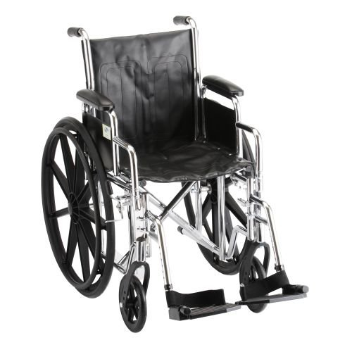 22 Inch Steel Wheelchair w/ Detachable Desk Arms & Swing Away Footrests - 1 Each / Each - 5220S