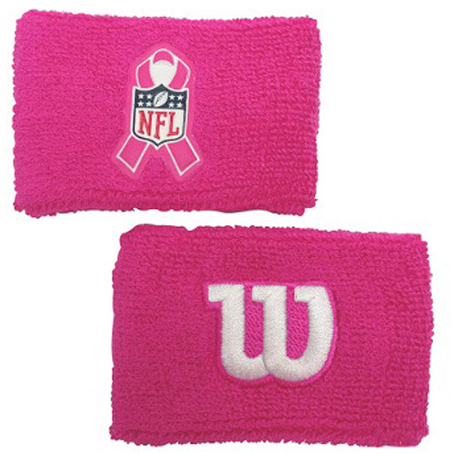 "Wilson 2"" Pink Wristband with NFL BCA Logo"
