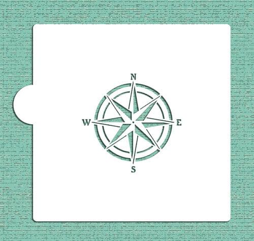Designer Stencils Compass Rose Cookie and Craft Stencil CM094