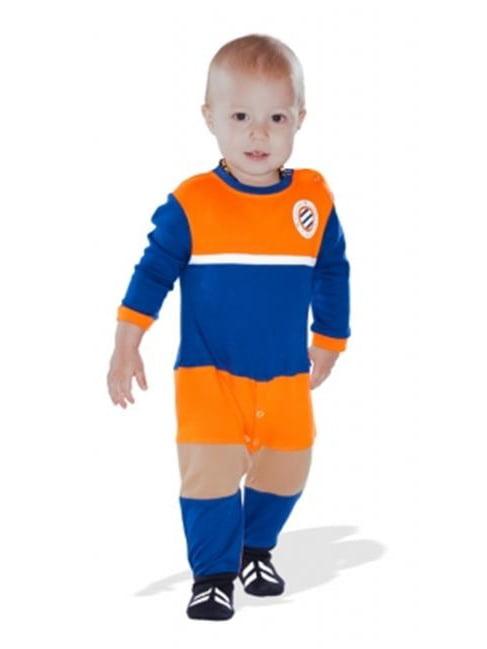 MHSC MHSCFO03 Montpellier Soccer Baby Sleepsuit, 0-3 Months