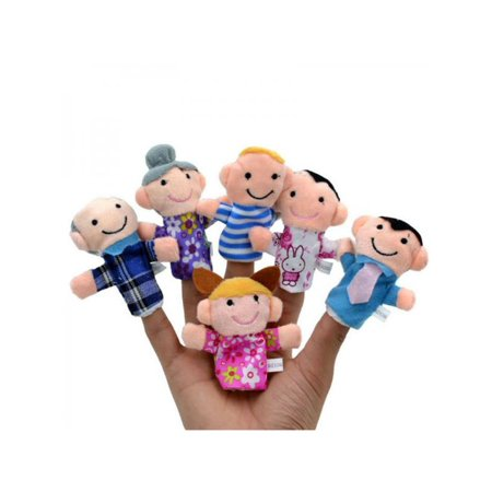 Lavaport 6 Pack Family Mermbers Finger Hand Puppet Learn Story Toy - Halloween Finger Puppets Printables