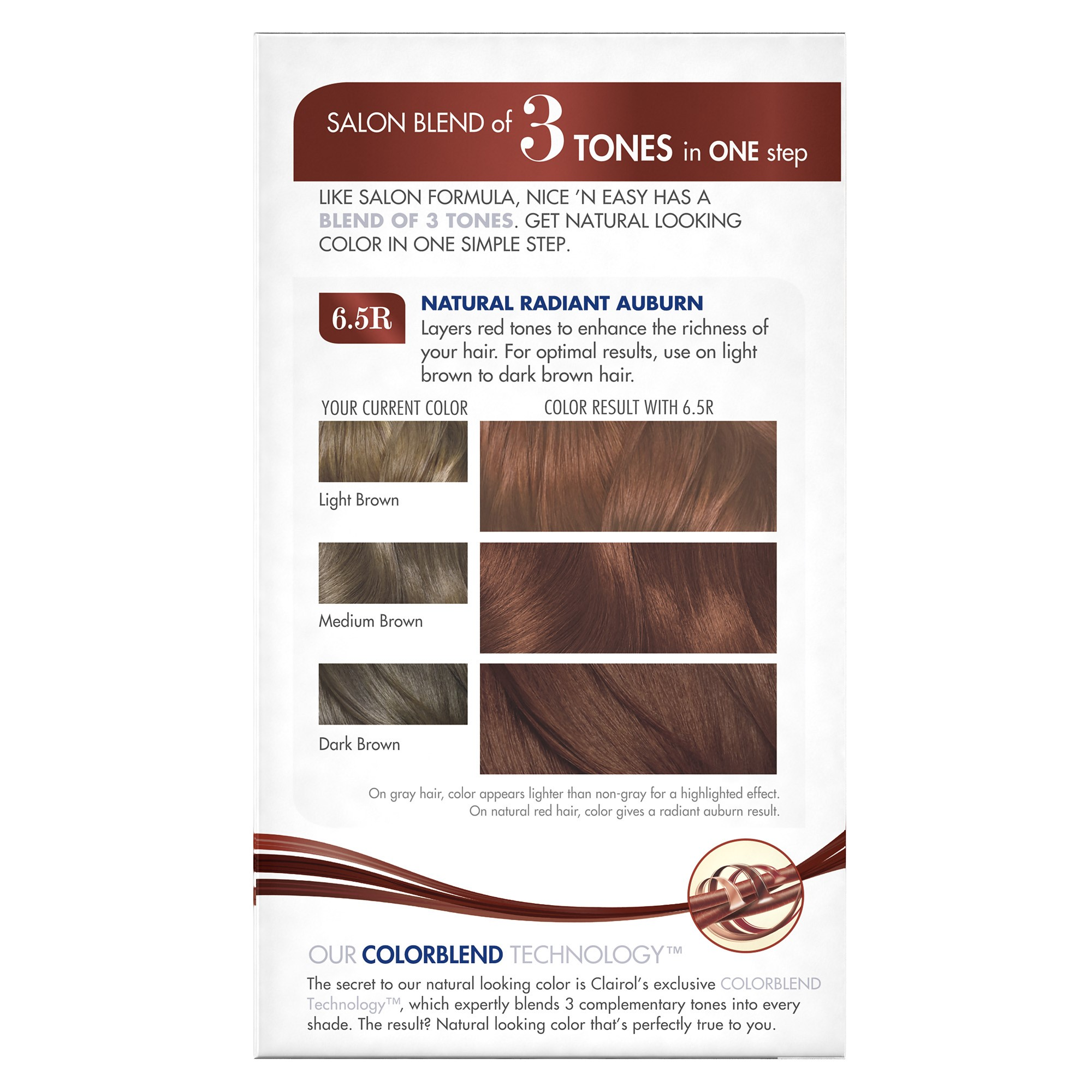 Clairol Nice N Easy Born Red Permanent Hair Color 2bg126 Natural