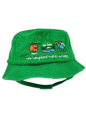 ec09dc2e397 Product Image New Hampshire Makes Me Happy Moose Lake Bear Green Toddler  Sun Bucket Hat State