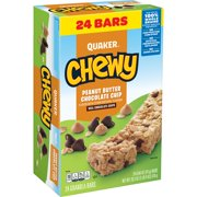 Quaker Chewy Granola Bars, Peanut Butter Chocolate Chip (24 Pack)