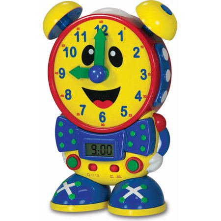 The Learning Journey Telly The Teaching Time Clock, Primary Color Design