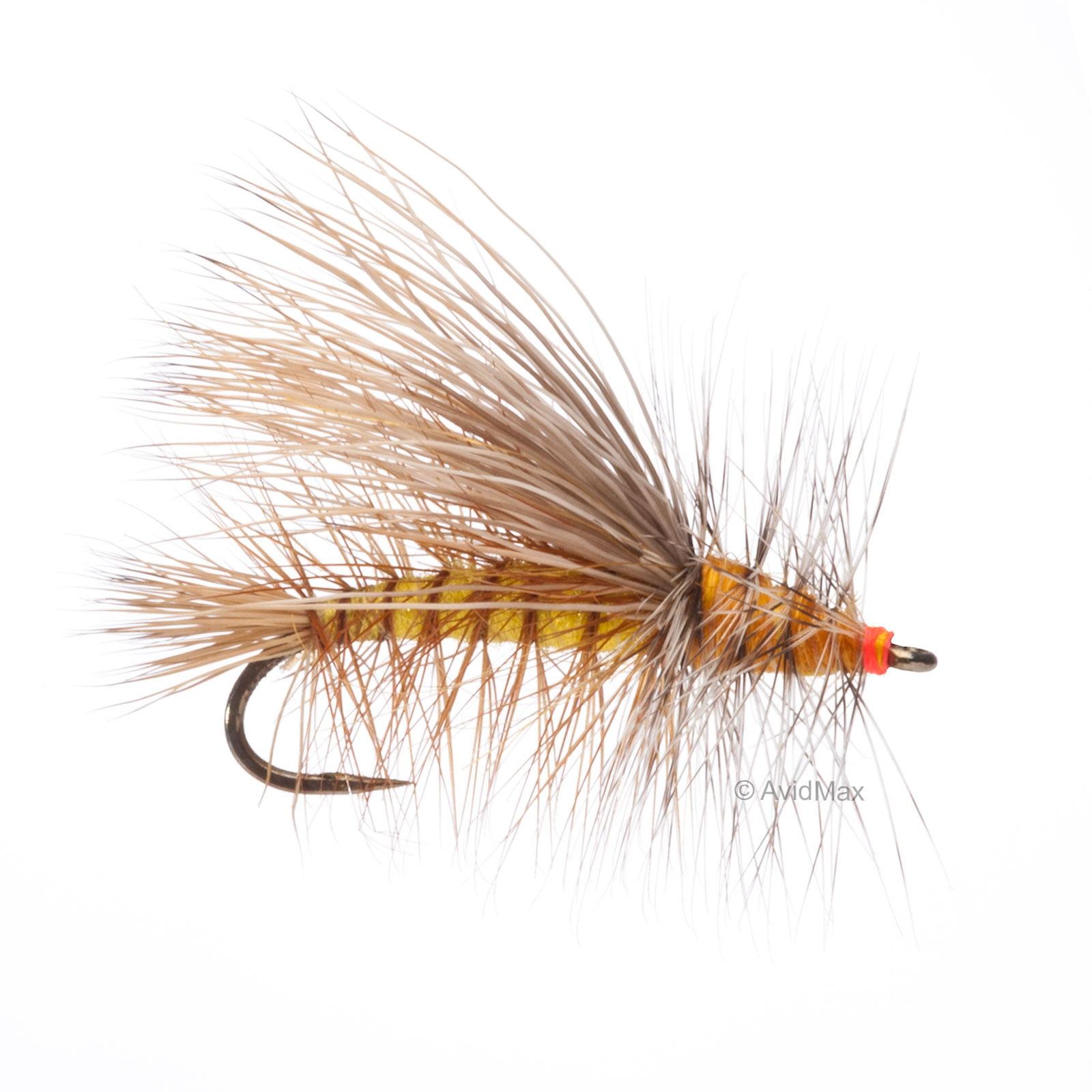 Umpqua Stimulator Kaufmann Barbless Yellow Fly Fishing Dry Flies Multi-packs