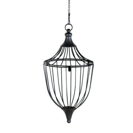 Elegant Hanging Wire Basket Planter, Tapered