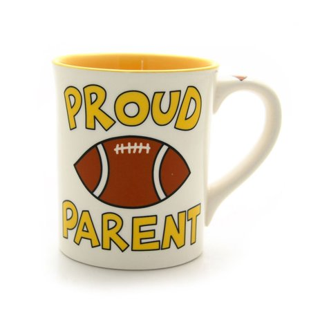 Our Name Is Mud by Lorrie Veasey Football Parent Mug, 4-1/2-Inch, Crafted of sturdy, dolomite ceramic By Enesco Ship from US