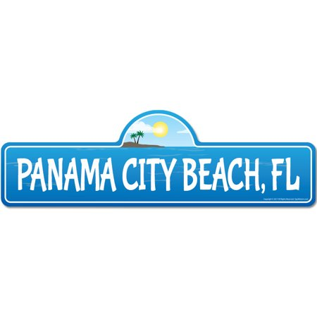 Panama City, FL Florida Beach Street Sign | Indoor/Outdoor | Surfer, Ocean Lover, Décor For Beach House, Garages, Living Rooms, Bedroom | Signmission Personalized