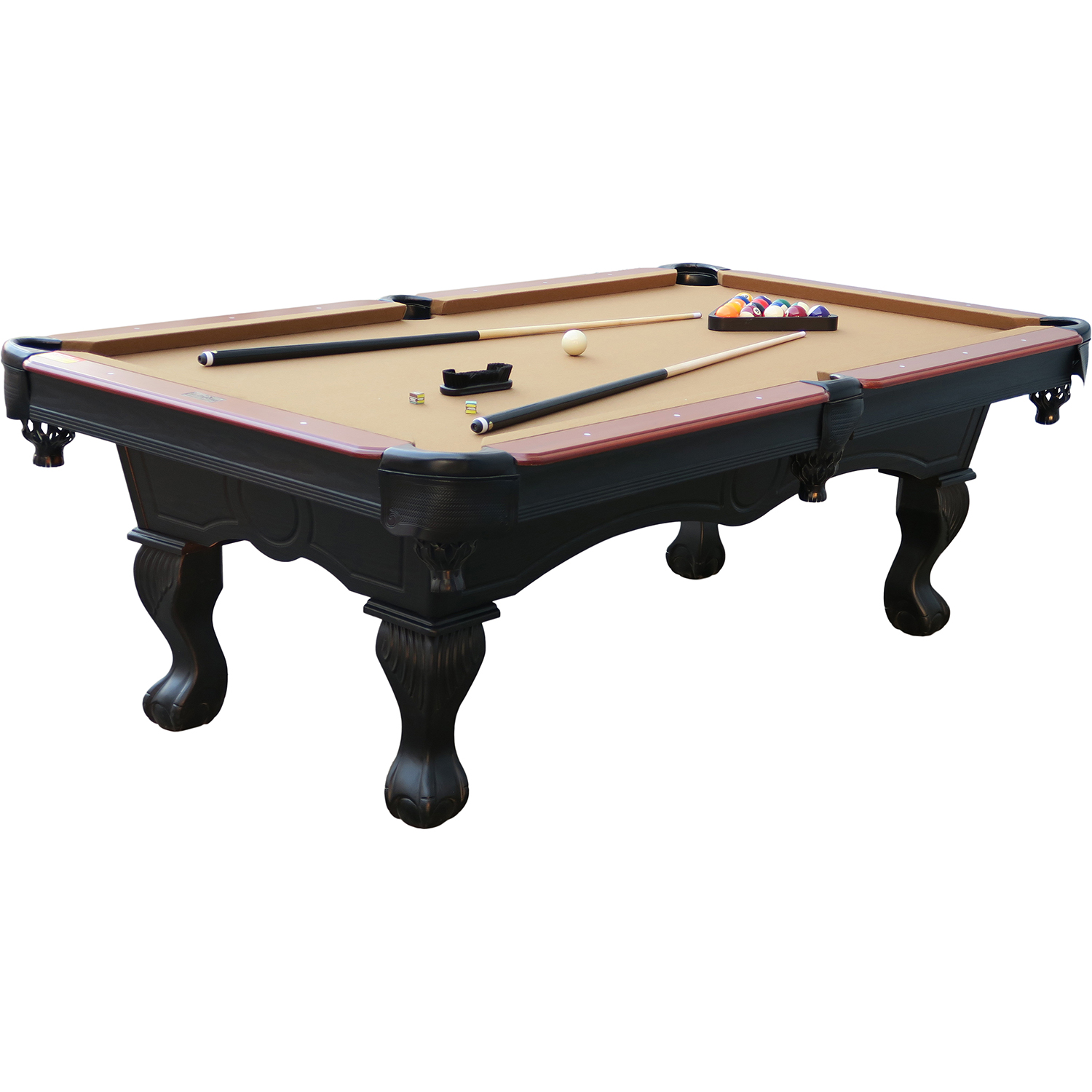 MD Sports 8u0027 Traditional Authentic Billiard Pool Table With Accessory Kit