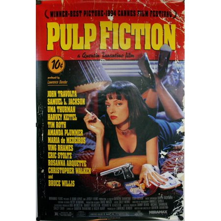 Pulp Fiction Uma Thurman Poster 36 x 24 Quentin Tarentino Movie - Uma Thurman Pulp Fiction Halloween